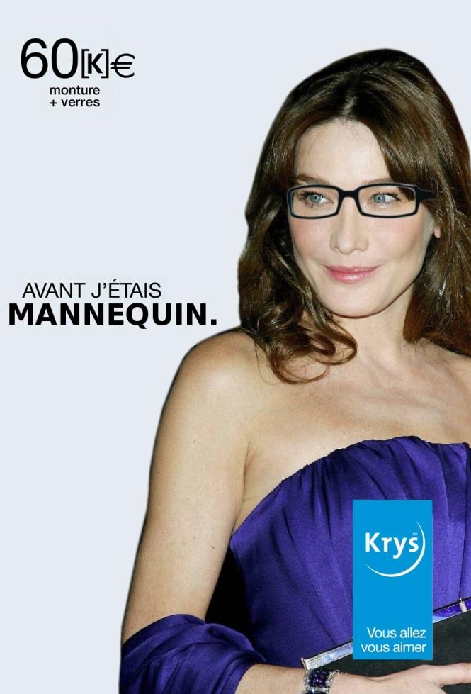 """""""avant j'étais"""" mannequin parodie pub krys bruni"""