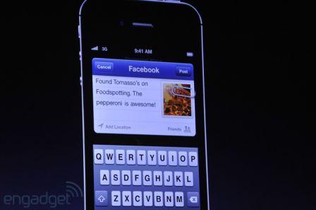 Facebook intégré dans iOS6