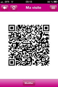 Appli EMP2013 - QRcode généré par l'appli