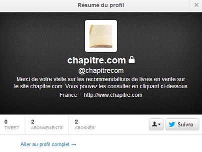 compte Twitter chapitre.com