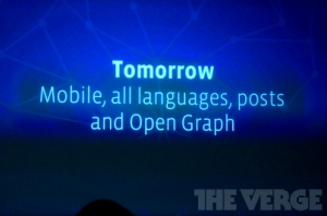 Facebook tomorrow - mobile, all languages, post, open graph