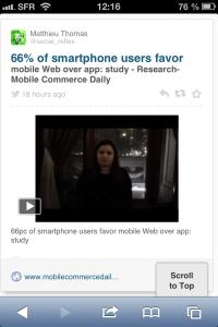 RebelMouse webmobile sur smartphone