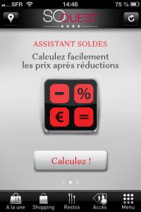 Calculateur de soldes de l'appli So Ouest