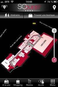 Plan interactif 3d du centre commercial So Ouest de Levallois-Perret