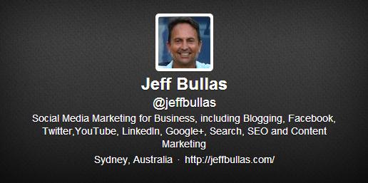 Twitter profil Jeff Bullas