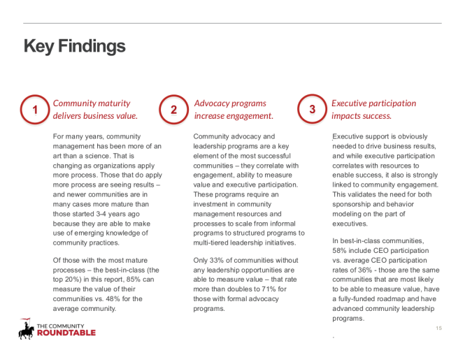 15 - Key findings